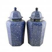 Pair of Chinese Style Vases & Lids SOLD