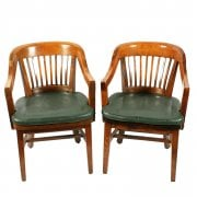 Pair of Gunlocke Chair Co. Arm Chairs