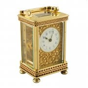 Victorian Brass Carriage Clock