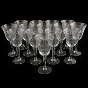 Set of 14 Edwardian Wine Glasses