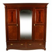 Edwardian Three Door Wardrobe