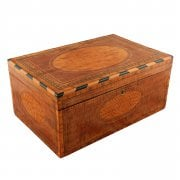Mahogany and Satinwood Deed Box