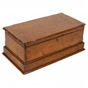 Late 19th Century Walnut Deed Box