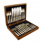 Victorian Silver Plated Fish Knives & Forks