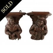Pair of Medieval Style Wall Brackets