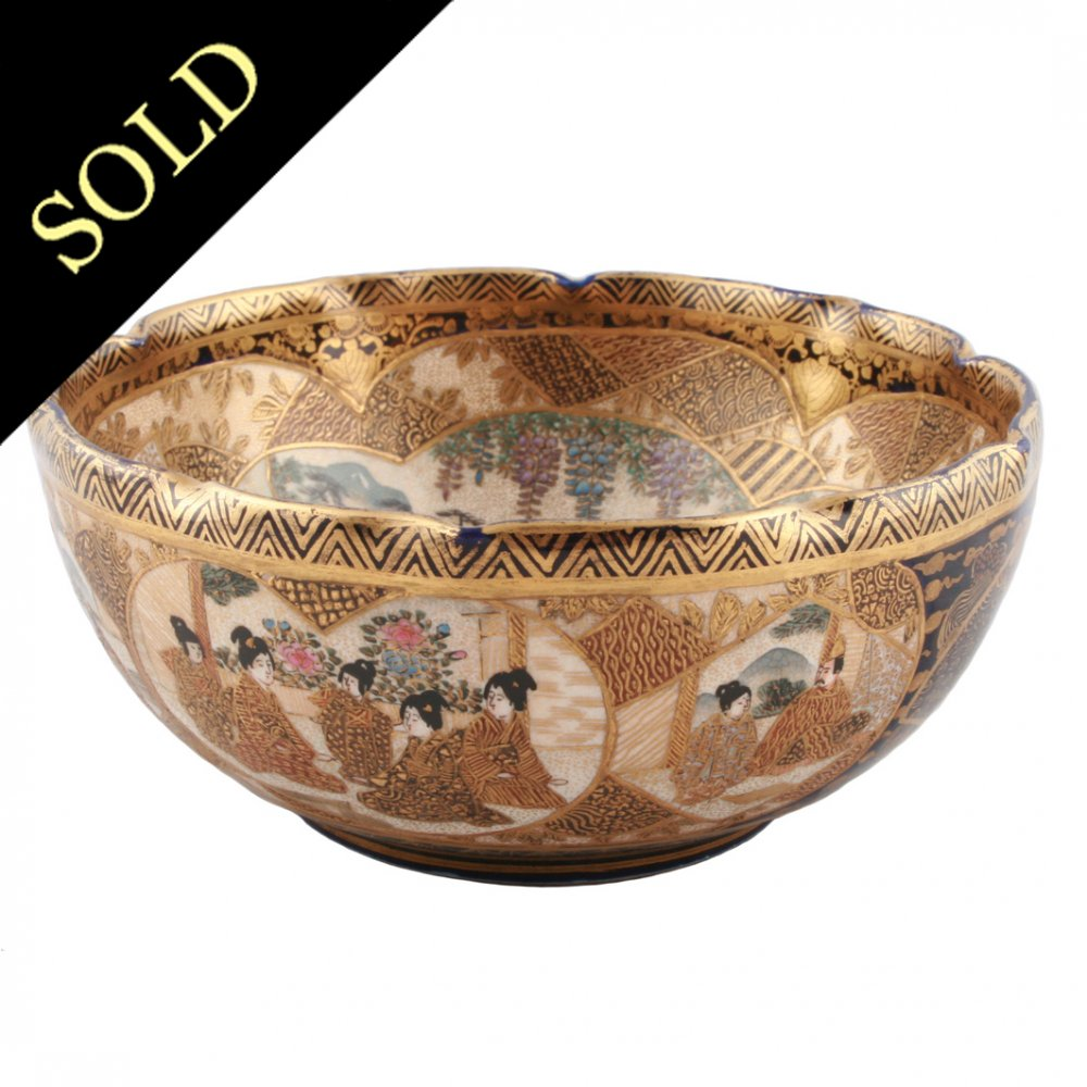 Pottery vintage satsuma Antique Spotlight: