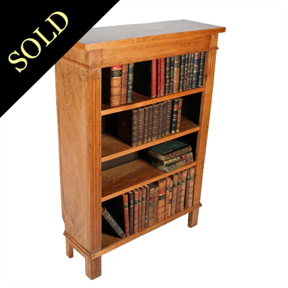 Victorian Oak Open Bookshelves