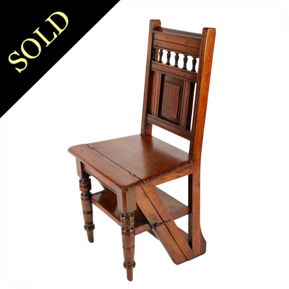 Victorian Metamorphic Library Chair or Steps - Antique Library Chair Victorian Metamorphic Library Steps