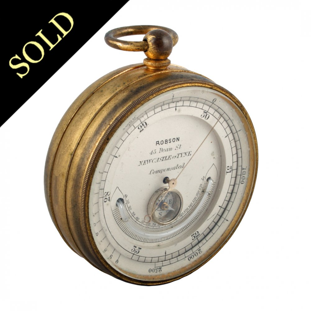 Antique Pocket Barometer Barometer Compass Amp Thermometer
