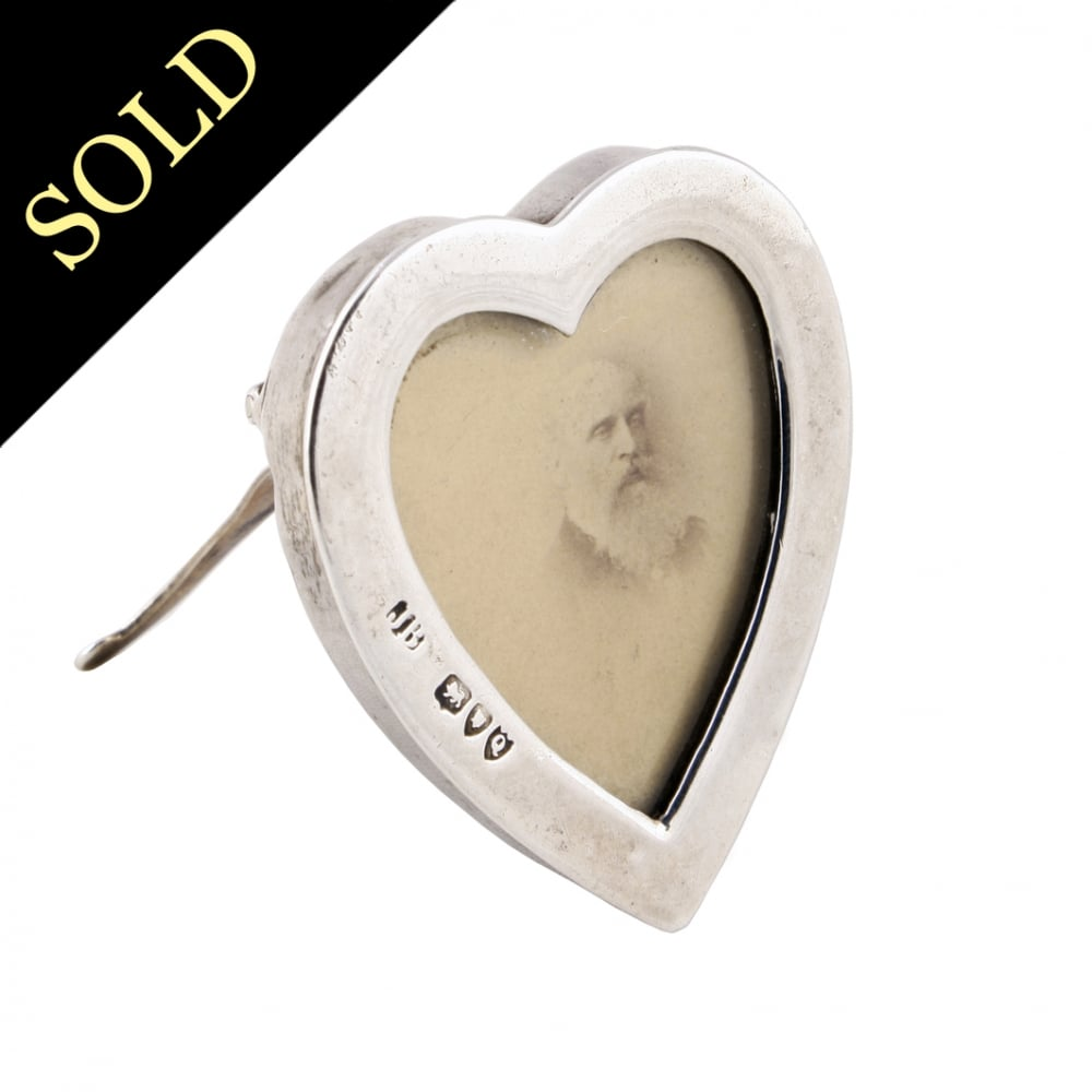 Antique Silver Photo Frame | Heart Shaped Silver Frame