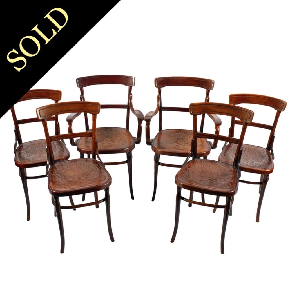 - Antique Bentwood Chairs Six Josef Jaworek Chairs