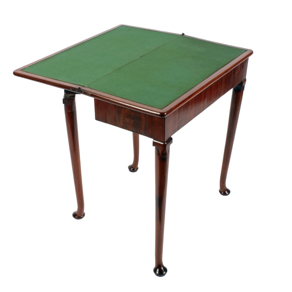 Antique Card Table George Ii Mahogany Card Table