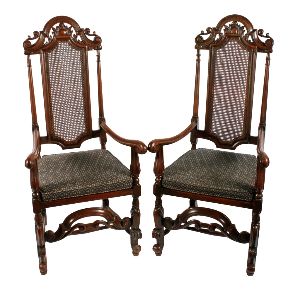 Century Furniture Sale: Pair Of 17th Century Style Arm Chairs