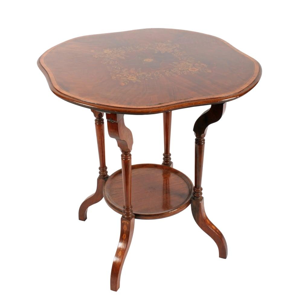 Edwardian Mahogany Inlaid Table