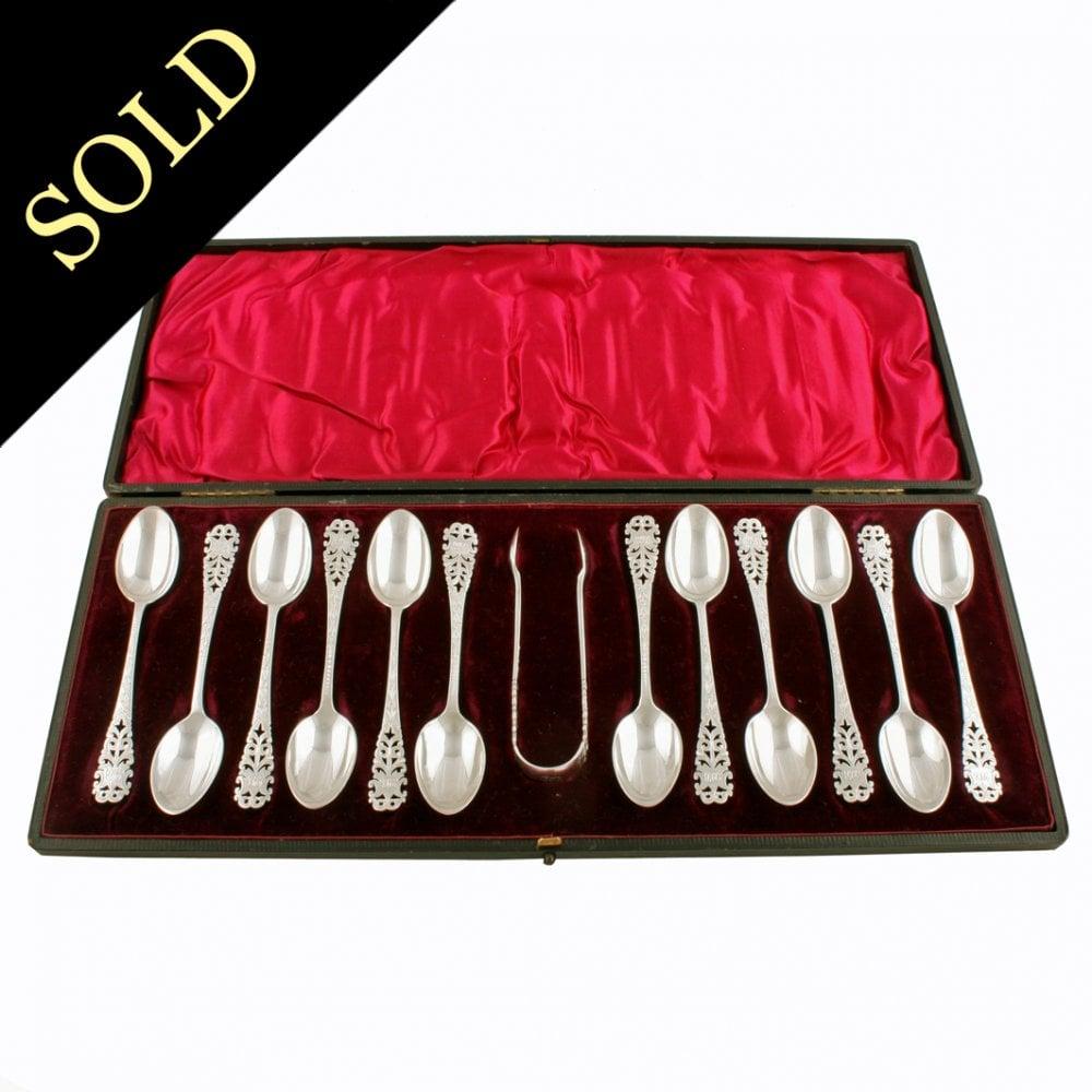 Antique Silver Tea Spoons Victorian