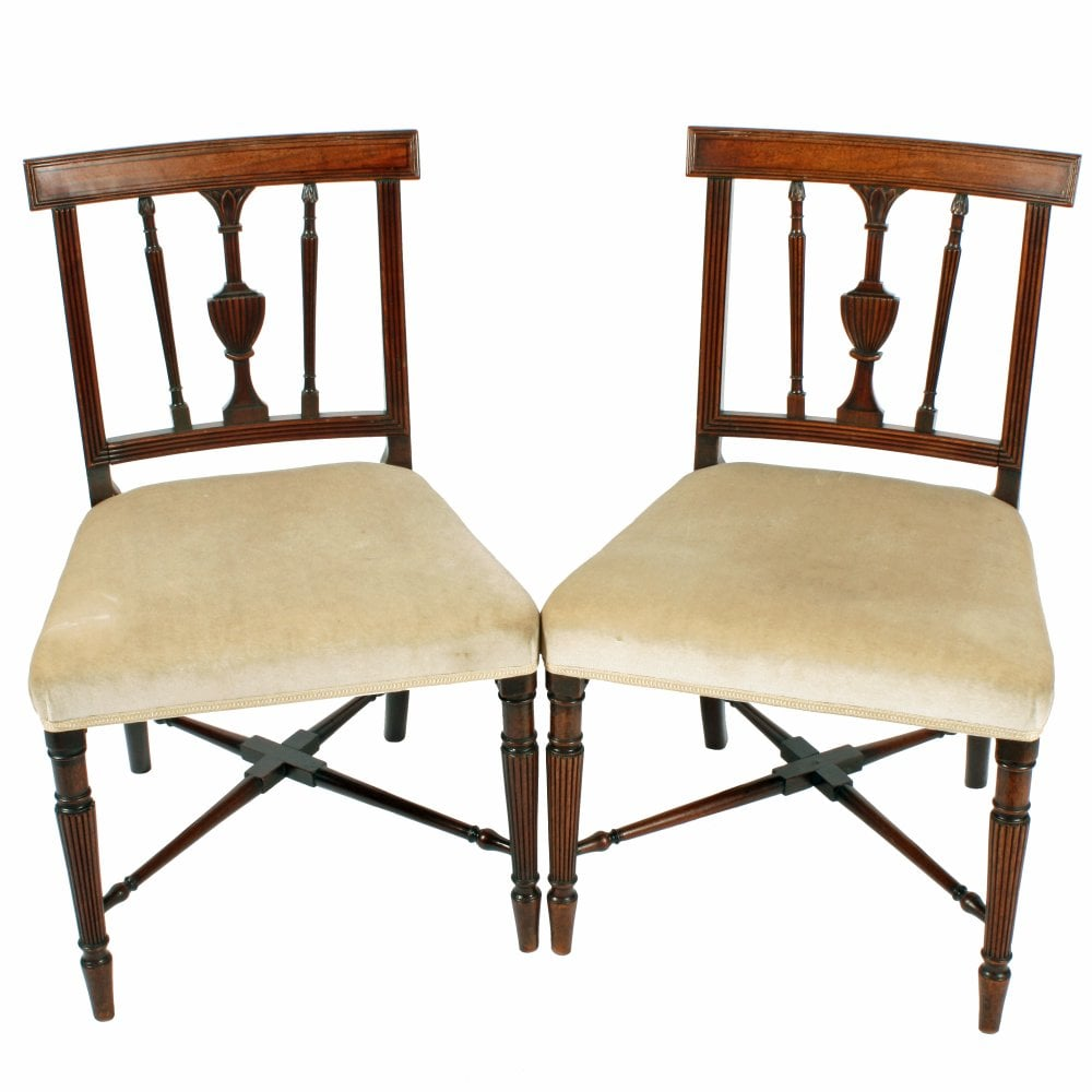 Antique Georgian Mahogany Chairs Pair