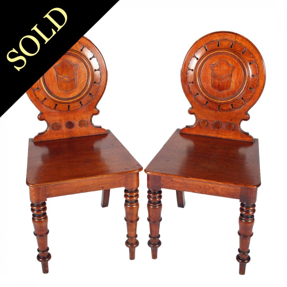 - Antique Hall Chairs Victorian Oak Hall Chairs